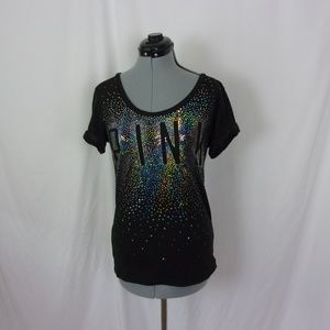 Victoria's Secret Sequin T Shirt PINK m
